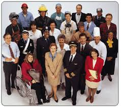 Either this is a stock photo for the word 'demographics' or the Village People are accepting new members.